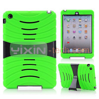 2 In 1 Skidproof Silicone+PC Hard Back Cover Case for iPad Mini case