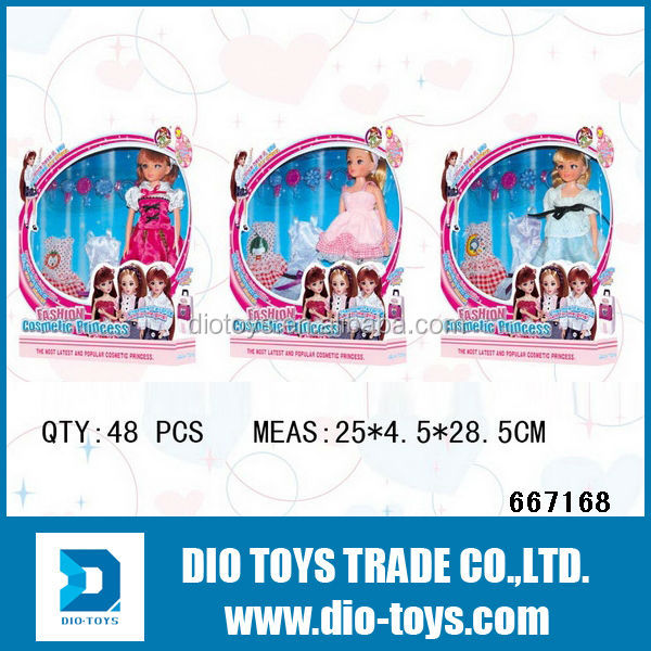 girls' gift plastic princess dolls mini dolls
