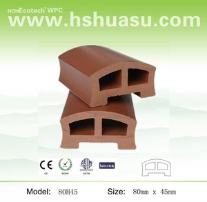 wood plastic composite handrails for outdoor steps