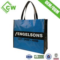 China Manufacturers Shopping Bag Pp Woven Bag With Your Own Logo And Lamination