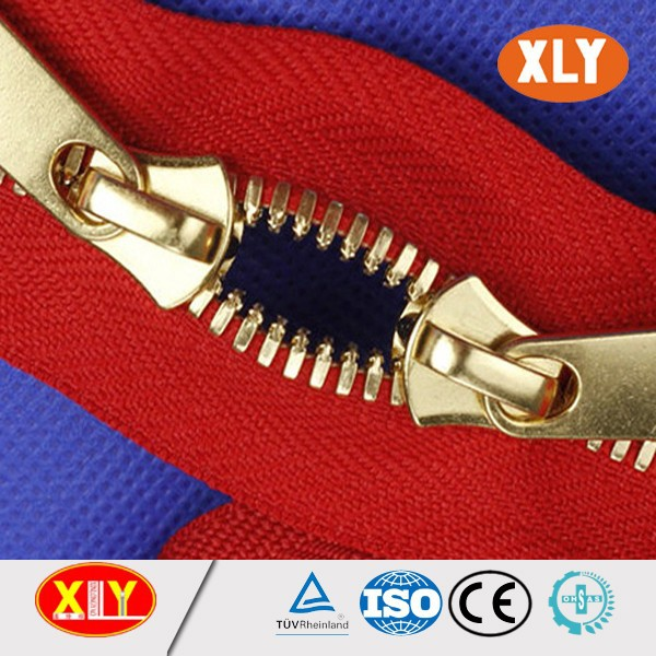 two way double slider metal zipper #3#5#8 customized pull metal zipper