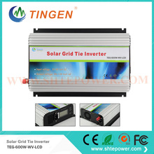 600w Grid tie micro control solar panel inverter with MPPT function for grid tie solar 22-60v dc input