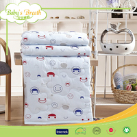BBS110 home use handmade printed patchwork plain baby quilt patterns, dog print polyester quilt