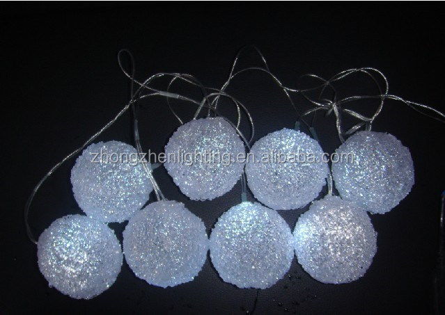 Christmas cotton ball LED string light