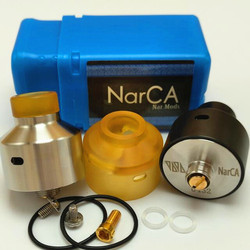 Black silver color Narda rda upgrade 2017 NarCa rda Clone PEI tank NarCa rda bf pin can match with narda