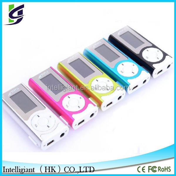 Popular gift of mini mp3 digital player with torchlight in Christmas