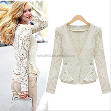 2015 fashion bud silk long sleeve small coat