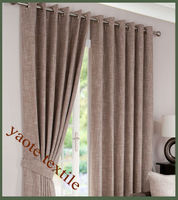 faux linen fabric ready made window curtain promoting