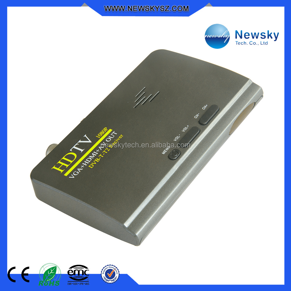 DVB-T/T2 Multi-Language OSD TV Tuner Box for LCD Monitor