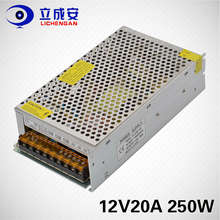 S-250-12 smps led strip light driver 250w 12v 20a ac to dc 12v20a switching power supply for cctv