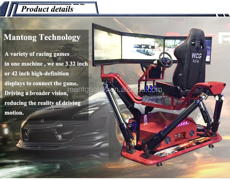 2017 Newest Amusement Park Coin Operated Arcade Machines Simulator 3 Sreens Driving Motion Car Racing Game Machine