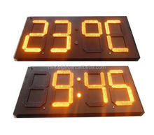 Manufacturer hanging RF control 7 segment led digital clock display waterproof digital signage outdoor