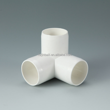 Plastic PVC 3 Way Elbow pipe fitting 1-1/4 Inch fitting
