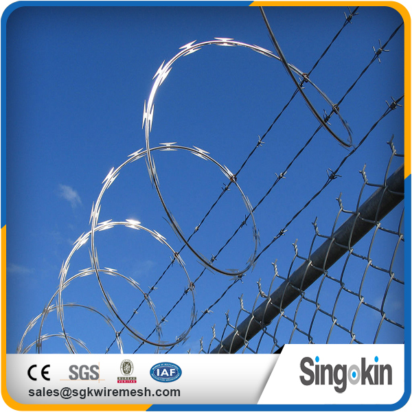 Original factory Trustworthy cheap concertina razor wire fencing fake barbed wire