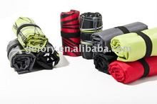 rolling up foldable nylon shopper bag for button closure