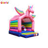 Rainbow Unicorn Bounce House Sparkling Inflatable Bouncer