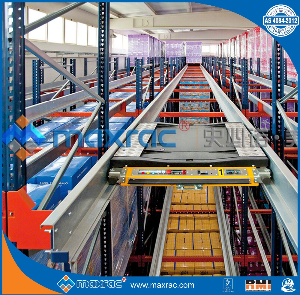 Maxrac dense storage solution with shuttle racking