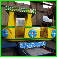 Thrilling small amusement rides rocking tug boat for sale