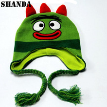Wholesale cute funny baby childern fleece lined customanimal earflap hat