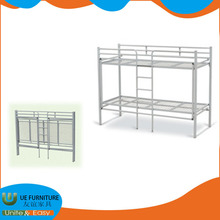 Modern metal durable student double bunk bed for dormitory room with low price