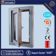 Various Glasses For Option, Like Low-E, Reflective, Lamilated Aluminum Profile Casement Windows