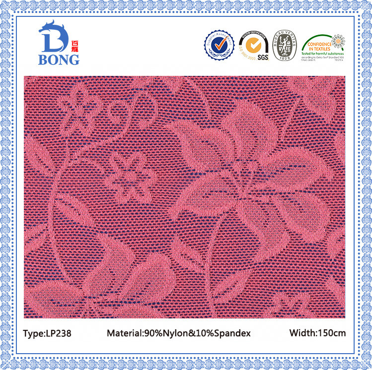 New fancy red guipure lace fabrics for clothing