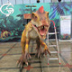 Funny and innovative mechanical high simulation moving dinosaur ride