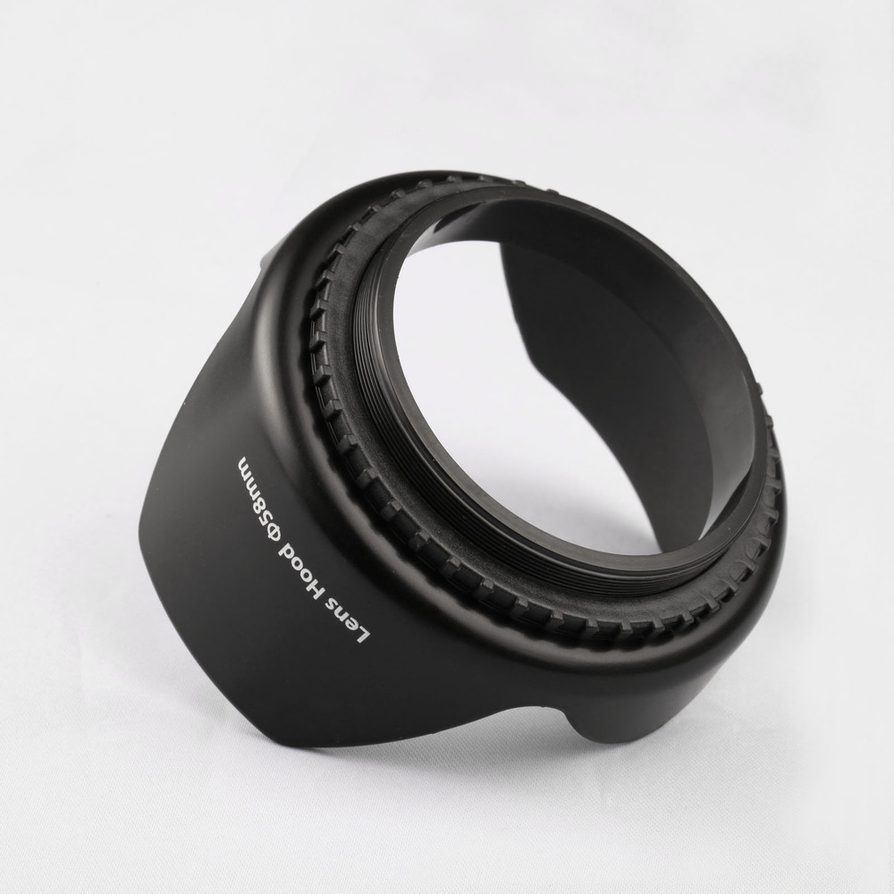 55MM THREE FUNCTION LENS HOOD, RUBBER K&F Camera Accessories