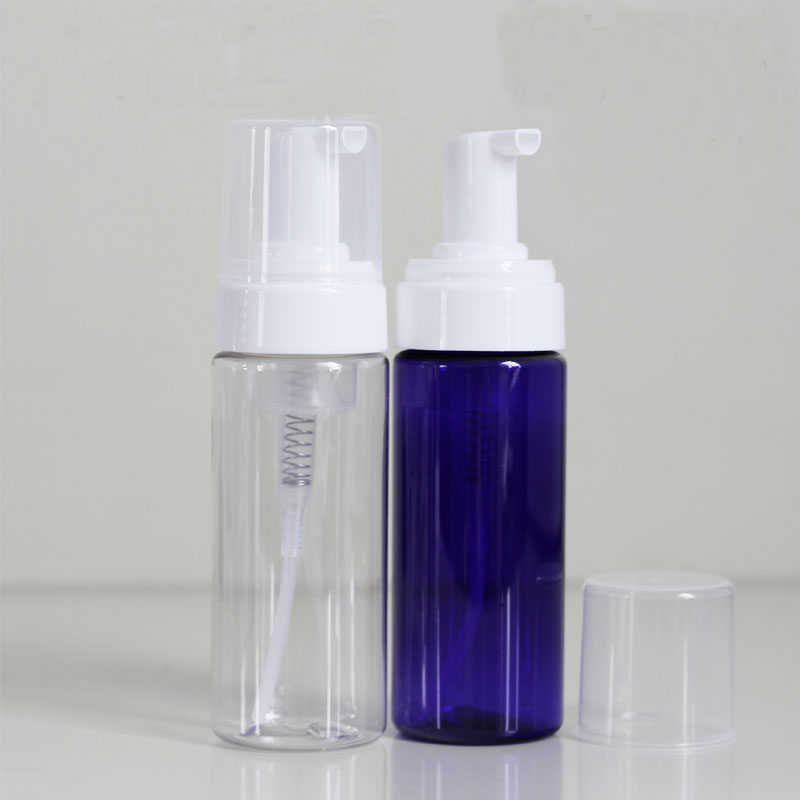 empty 100ml pet clear plastic airless foam pump dispenser bottle