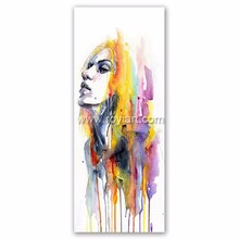 Handpainted Beautiful Woman Acrylic Canvas Oil Painting for Home Decor