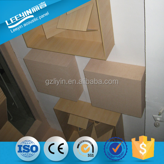 3d Acoustic Wall Panel Wooden Sound Diffuser Sound Proof Acoustic Board Of Cinema