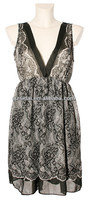 2013 New arrival V neck sleeveless chiffon indian party dress patterns