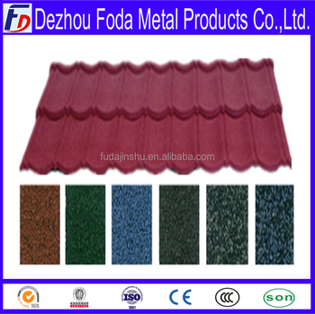 red color steel metal roof roofing tile for villa