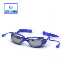 2016 China factory adult Silicone swim goggles hot sale goggles with ear plug speedo