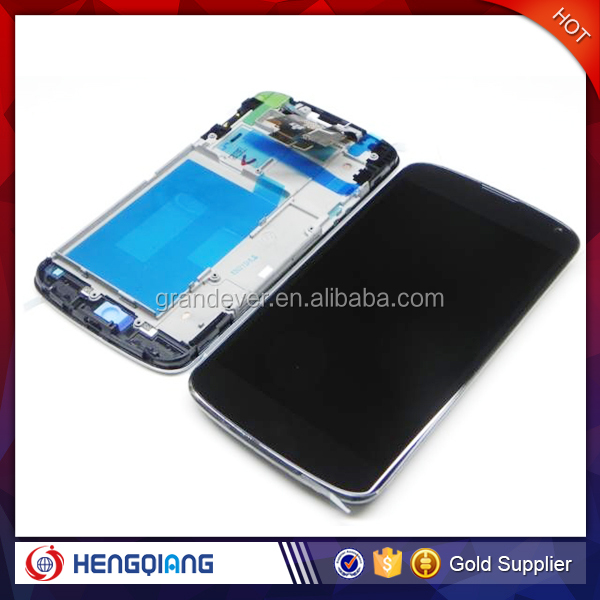 E960 touch- lcd display digitizer for LG Nexus 4. for Nexus4 e960 lcd screen with frame repairing cheap