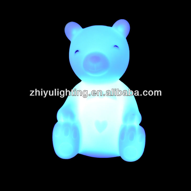 LED 7 color changing colorful bear light lamp festival toy gift