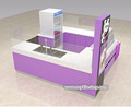 Shopping mall fried ice cream roll kiosk with ice cream display showcase