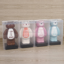 wholesale cute bear shape multifunction plastic money box with light DMY005