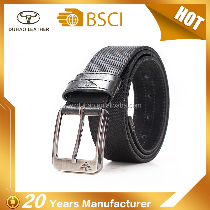 Hot High Quality Custom Causal Golf Pu Oxfrod Fabric Belts For Man