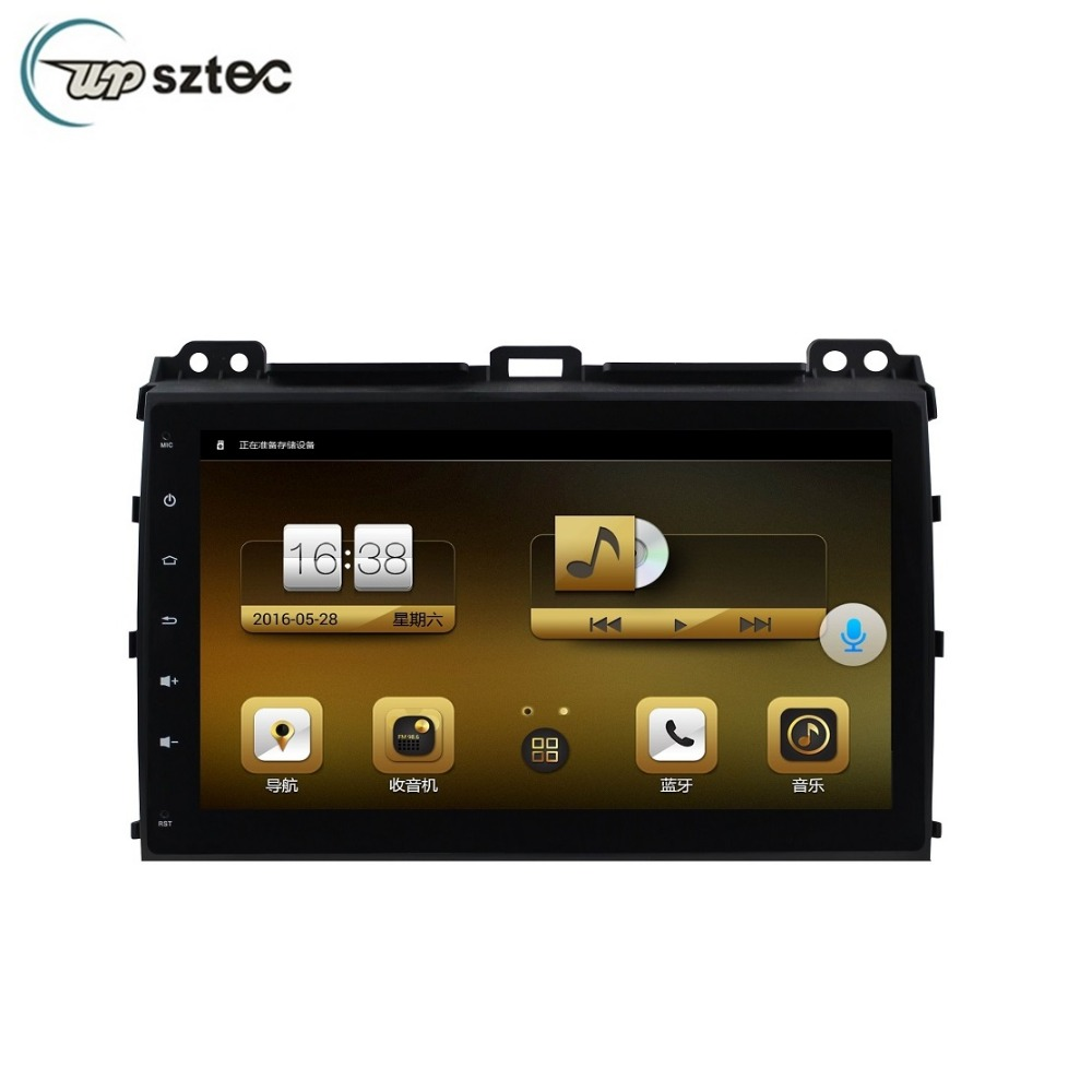 "9"" Quad Core Full Touch Screen Android Car GPS , Multimedia System Radio Player For Toyota Prado 2008"