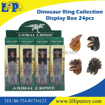PVC assorted toy ring style small dinosaur toy for kids