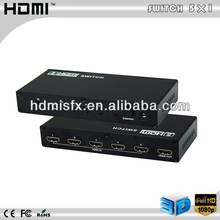 5 Port way hub/splitter/switcher- HDMI AUTO SWITCH