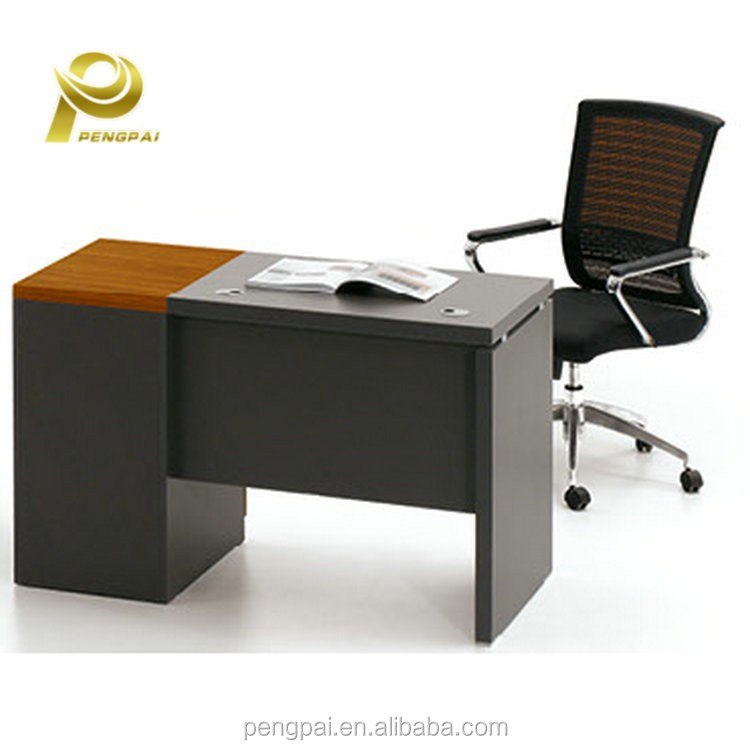 one person office computer table design for internet cafe with cpu holder