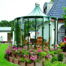 Professional manufacturer portable style aluminum pool glass house