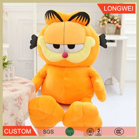 OEM/ODM high quality plush cat toys yellow animal stuffed toys
