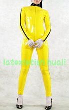 100%handmade natural Latex catsuit Latex dress