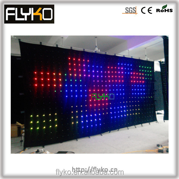indoor flexible led curtain,led video curtain/rental video wall/led mesh curtain/mesh panel