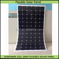 250w amorphous silicon thin film flexible pv solar panel