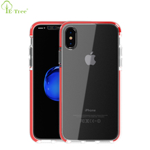 Sublimation Colored Frame TPE Hybrid TPU Transparent Shock Proof Mobile Case For iPhone X
