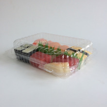 Disposable Transparent Plastic Box/Ps Camshell Container/Take A Way Sushi Box